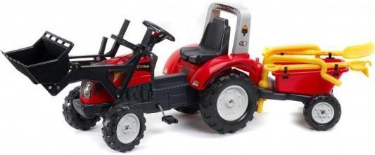 Каталка-самосвал Falk Трактор-экскаватор красный от 3 лет пластик FAL 1051RM tomy трактор john deere 6830 с двойными колесами и фронтальным погрузчиком с 3 лет