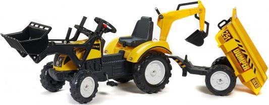 Каталка-самосвал Falk Трактор-экскаватор желтый от 3 лет пластик FAL 2085Z tomy трактор john deere 6830 с двойными колесами и фронтальным погрузчиком с 3 лет