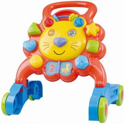 Ходунки Playgo Лев разноцветный от 1 года пластик Play 2254 каталка playgo play 1765 пластик от 1 года на колесах разноцветный