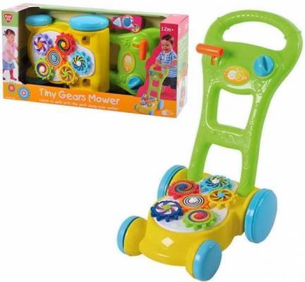 Каталка-ходунок Playgo Каталка -ходунок с шестеренками разноцветный от 1 года пластик 4892401025777 каталка ходунки play 2254 лев playgo