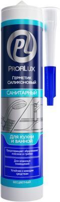 Герметик силиконовый PROFILUX CSS684STR санитарный 300мл бесцветный цены