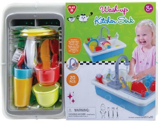 Фото - Игровой кухонный набор - раковина, с сушилкой и посудой, 20 предметов игровой кухонный набор раковина с сушилкой и посудой 20 предметов