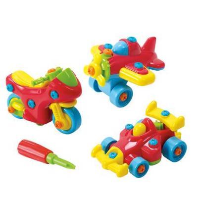 Игровой набор PLAYGO Юный механик 3 в 1 набор юный механик с самолетом и паровозом