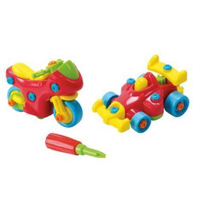 Игровой набор PLAYGO Юный механик с мотоциклом и гоночной машиной набор юный механик с самолетом и паровозом