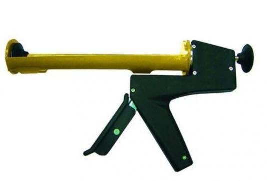 Пистолет для герметика BIBER 60108  9 полукор. с противовесом
