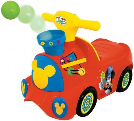 Каталка-пушкар Kiddieland Паровозик Микки Маус красный от 1 года пластик KID 052670veg