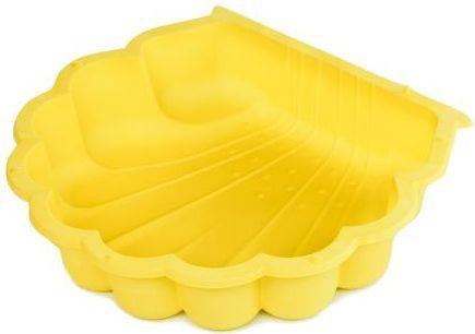 Песочница - ракушка одинарная  желтая  87х78х20