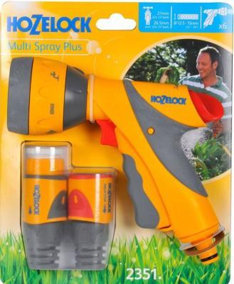Начальный набор для полива HOZELOCK 2351 Multi Spray Plus Пистолет-распылитель, коннекторы 6 шт. пистолет hozelock 2676 multi spray
