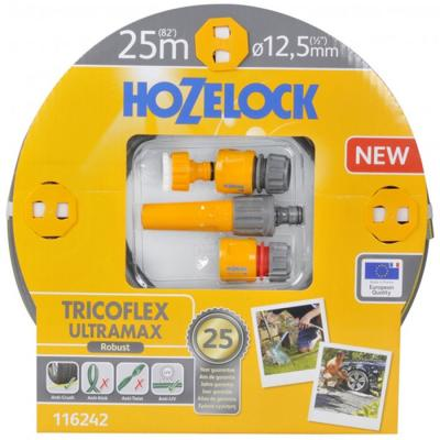 Набор HOZELOCK 116242 TRICOFLEX ULTRAMAX STARTER SET ДЛЯ ПОЛИВА 12.5 MM 25 M термобелье ultramax m black 46 48 u1121new blk