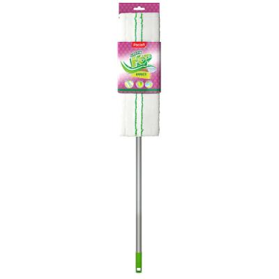 PACLAN Швабра Green Mop с плоской насадкой из микрофибры и телескопической ручкой 1 шт швабра loks super cleaning с насадкой для отжима цвет розовый l10 2757 11