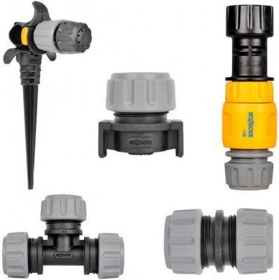Комплект HOZELOCK 7023 21 предмет: шланг,редуктор,разбрызгиватели, зажимы, заглушки, муфта, тройник редуктор walcom 61000