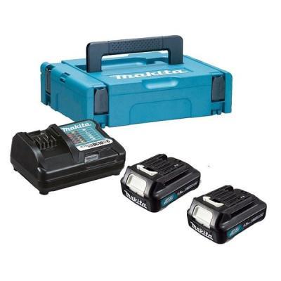 Аккумулятор MAKITA 197643-8 Акк+з\\у, DC10WC-1шт+BL1015-2шт,10.8В,1.5Ач,Li-ion(слайдер),MakPac аккумулятор makita 197403 8