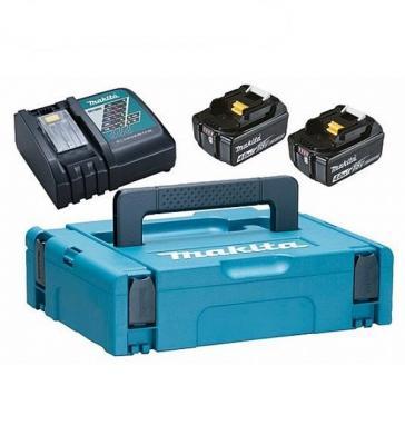 Аккумулятор MAKITA 198310-8 DC18RC-1шт+BL1840B-2шт, 18В, 4.0Ач, Li-ion, MakPac аккумулятор aeg l1820r 18в li ion 2 0ач