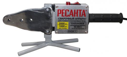 Аппарат для сварки пластиковых труб РЕСАНТА АСПТ-2000 2000Вт 63мм раструбная муфтовая аппарат для сварки пвх труб ресанта аспт 2000