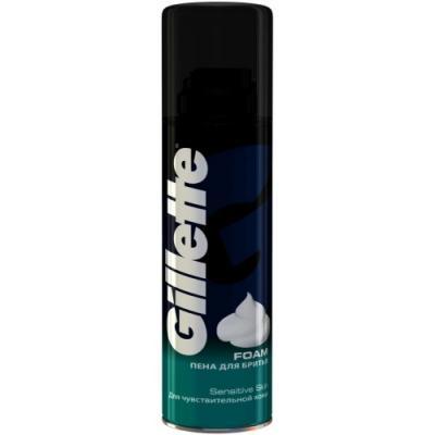 GILLETTE Пена для бритья Sensitive Skin для чувствительной кожи 200мл подарочный набор для мужчин пена для бритья и бальзам после бритья для чувствительной кожи gillette tgs sensitive aloe