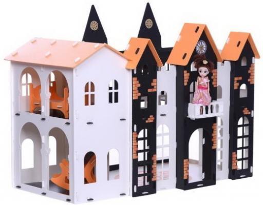 Купить Домик для кукол Замок Джульетта бело-черный с мебелью, R&S, для девочки, Домики и аксессуары