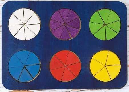 Рамка вкладыш Дроби, Никитин, 6 кругов, ур.2 рамка вкладыш woodland 011103 ёжик