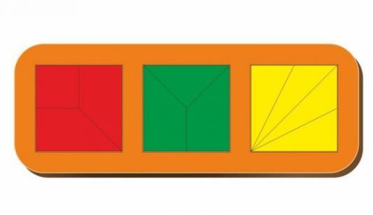 Купить Рамка вкладыш Сложи квадрат, Никитин, 3 квадрата, ур.2, в асс-те, Woodland, Вкладыши и матрасики