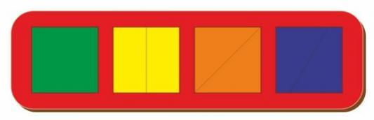 Купить Рамка вкладыш Сложи квадрат, Никитин, 4 квадрата, ур.1, в асс-те, Woodland, Вкладыши и матрасики