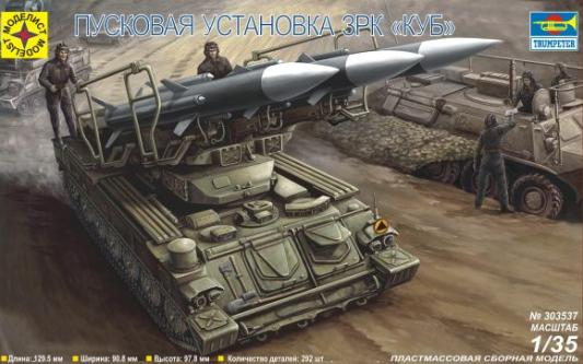 Набор Моделист Пусковая установка ЗРК КУБ камуфляж 303537