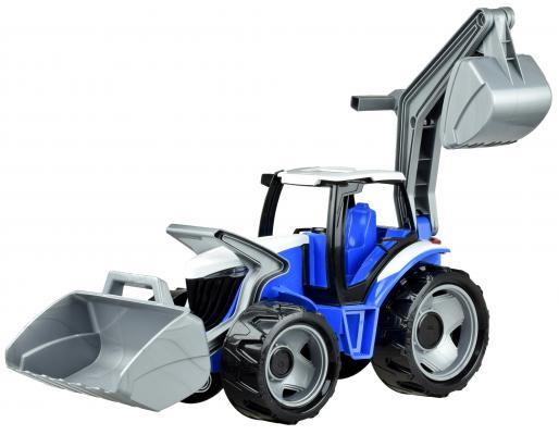 Купить Трактор Лена Трактор с грейдером и ковшом красный 2081, ЛЕНА, Детские модели машинок