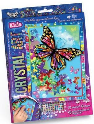 Набор креативного творчества ДАНКО-ТОЙС Crystal Art. Бабочки от 5 лет набор креативного творчества данко тойс diamond mosaic котята от 9 лет dm 01 10