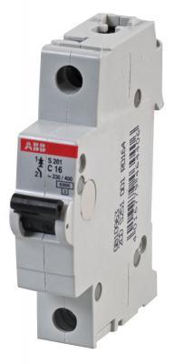 Автомат ABB S201 C16 1-полюсной автомат 3p 63а тип с 6 ka abb s203