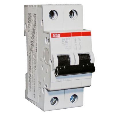 Автомат ABB SH202L C40 2-полюсной автомат 3p 63а тип с 6 ka abb s203