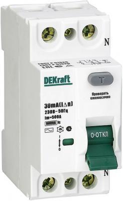 цены Выключатель DEKRAFT 14056DEK диф. тока 2п 40а 30ма ac УЗО-03 6ка
