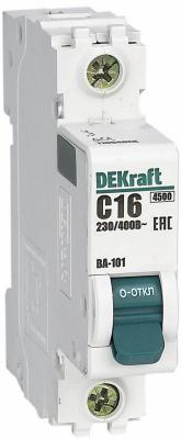 Фото - Выключатель DEKRAFT 11054DEK авт. мод. 1п c 16а ВА-101 4.5ка бокс dekraft 31004dek