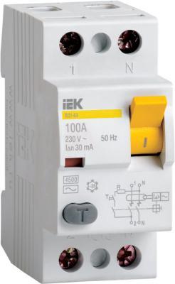 Выключатель дифференциального тока ИЭК 2п 40А/30 мА УЗО MDV10-2-040-030 цена