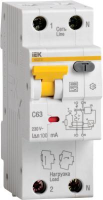 Выключатель автоматический дифференциального тока ИЭК 2п 16А/30мА C АВДТ 32 MAD22-5-016-C-30 авдт 63 2p c40 100ма tdm sq0202 0008 автоматический выключатель дифференциального тока