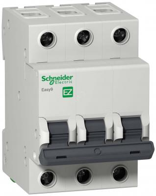 Выключатель автоматический Schneider Electric EASY9 ВА 3П 25А C 4.5кА 3DIN 3полюса 82х54мм автомат 1p 20а тип с 4 5ка schneider electric easy9