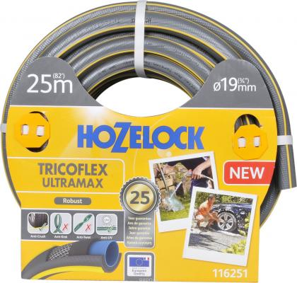 Шланг HOZELOCK 116251 TRICOFLEX ULTRAMAX 25м 3/8 пвх цена