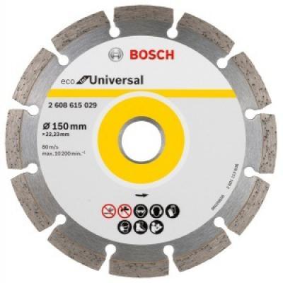 Алмазный диск BOSCH ECO Universal Ф150-22мм (2.608.615.029) по бетону