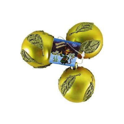 Елочные украшения Winter Wings Шар матовый 6 см 3 шт пластик елочные украшения winter wings шар в ассортименте 6 см 3 шт n06004