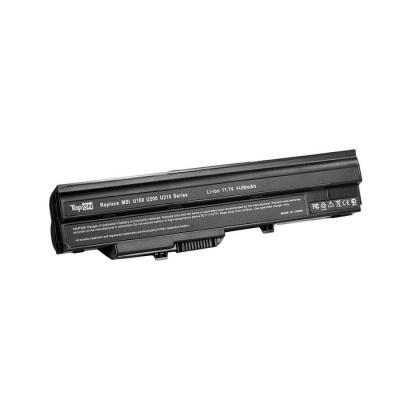 Аккумулятор для ноутбука MSI Wind U90, U100, U120, U123, U200, U210, U230, LG X110 Series 4400мАч 11.1V TopON TOP-U100