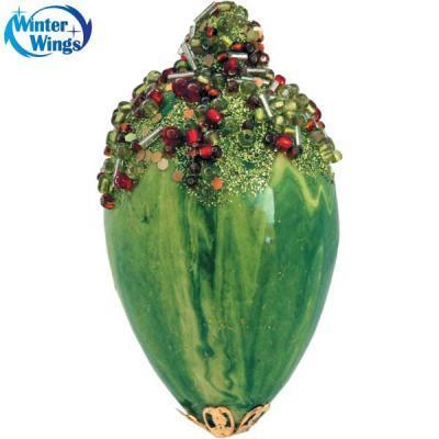 Купить Украшение елочное ПОДВЕСКА, 1 шт., 10, 5 см, 1 цв., в пакете, Winter Wings, зеленый, 10.5 см, пластик, Елочные украшения