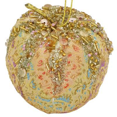 Украшение елочное ЯБЛОКО, 1 шт,10 см,в пакете,полимерный материал украшение елочное шар фиолетово золотой 7 см полимерный материал
