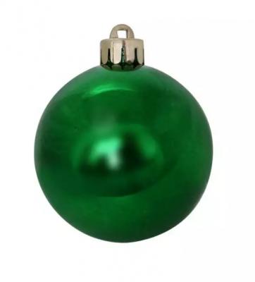 Елочные украшения Winter Wings Шар блестящий зеленый 6 см 1 шт пластик елочные украшения winter wings шар в ассортименте 6 см 3 шт n06004