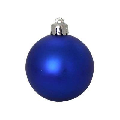 Купить Елочные украшения Winter Wings Шар матовый синий 5 см 12 шт пластик