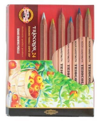 Набор цветных карандашей Koh-i-Noor Triocolor 24 шт 175 мм набор цветных карандашей koh i noor mondeluz 24 шт 3718024001ksru