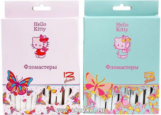 Набор фломастеров ACTION! Hello Kitty, 12 цв., картон с е/п, 2 диз. цена 2017
