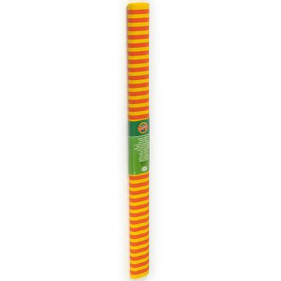 Креп-бумага Koh-I-Noor,желто-красная полоска, 2000х500 мм