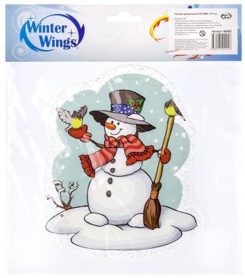 Фото - Наклейка Winter Wings Снеговик в шляпе 15х15 см наклейка инвалид в авто двухсторонняя 15х15 см