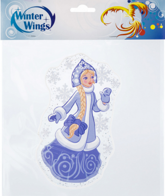 Наклейка Winter Wings Снегурочка 15х15 см