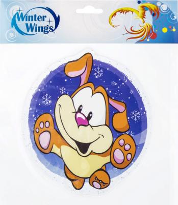 Купить Наклейка Winter Wings Собака и снежинки 15х15 см, Атрибуты для праздника