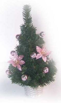 Елка декоративная украшенная, в корзине, 30 см, 6 цв елка декоративная трехцветная украшенная 50 см 3 цв в асс пвх в пакете