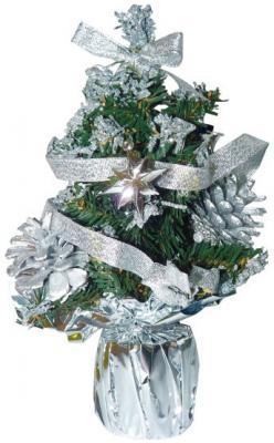 Елка декоративная украшенная, 20 см, 6 цв. в асс., ПВХ, в пакете подвеска сердце елка звезда металл золото в асс те