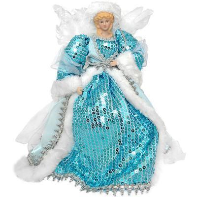 Украшение декоративное АНГЕЛ в голубом платье, 31 см, пластик, полиэстр, 1 шт декоративное украшение ангел 28047